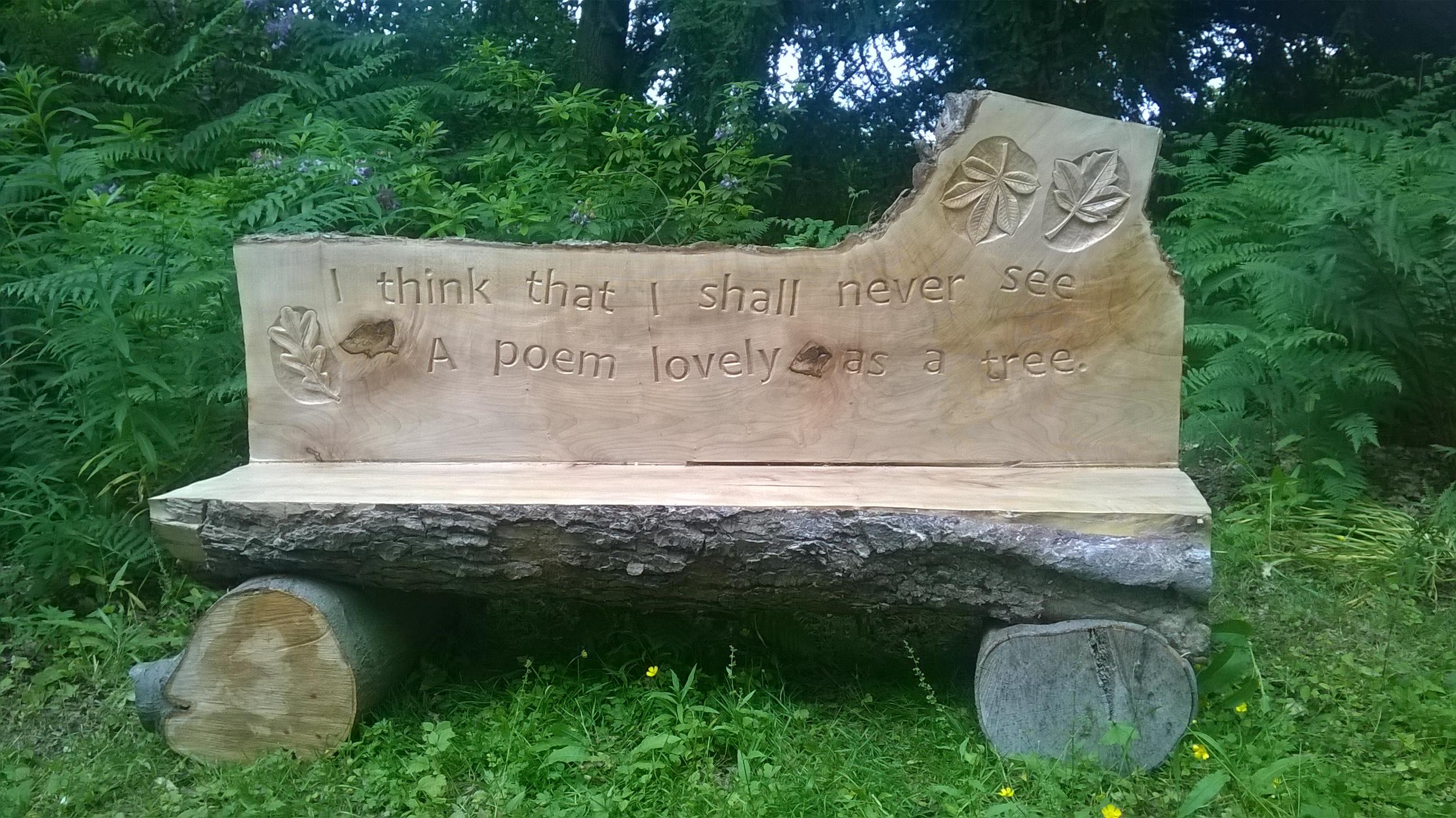 Log benches for moorlands « allen stichler wood carving