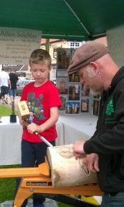 allen-stichler-woodcarving-barrow-wheelbarrow-weekend